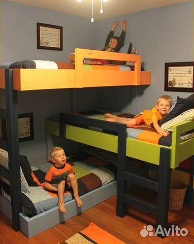 Детская двухъярусная кровать чердак в интернет