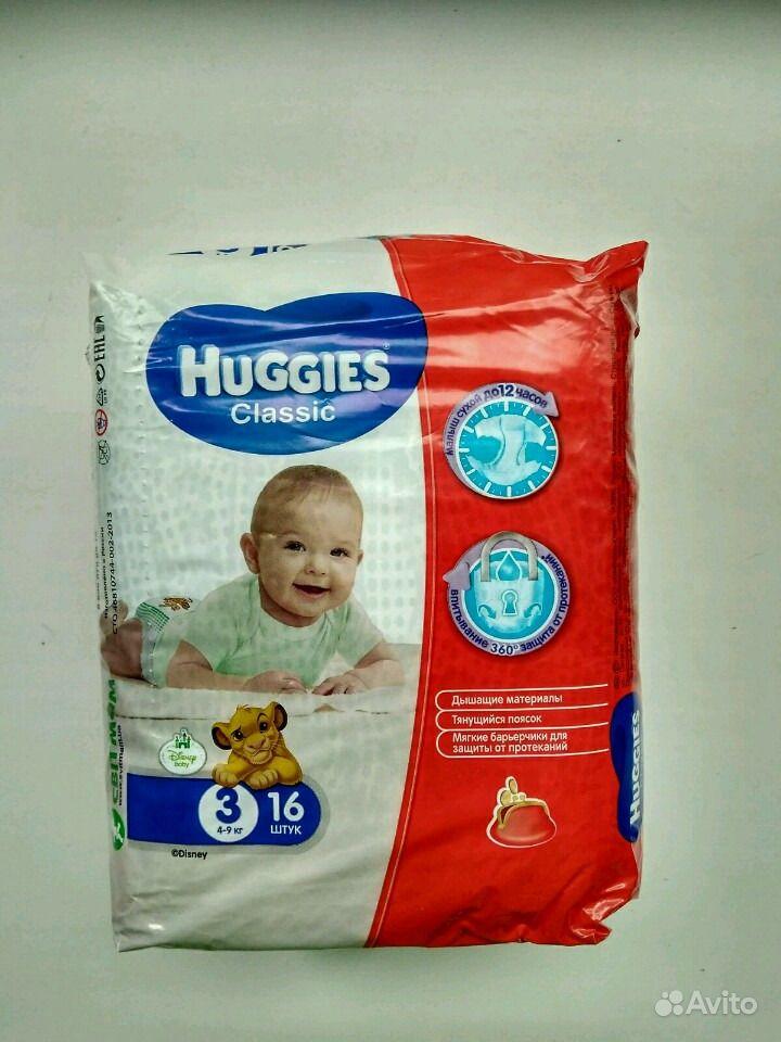 Подгузники Huggies Classic 3 4-9 кг, 16 шт   Festima.Ru - Мониторинг ... 98ebfa7edc5