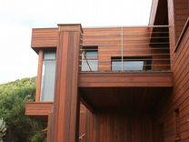 Массивная фасадная доска лиственницы