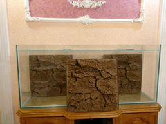 Аквариум 200 литров и рельефный декор