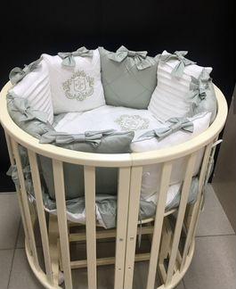 Кроватка круглая овальная