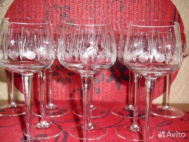 Бокалы тонкое стекло с резьбой ссср