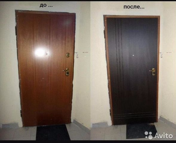 Реставрация входной металлической двери