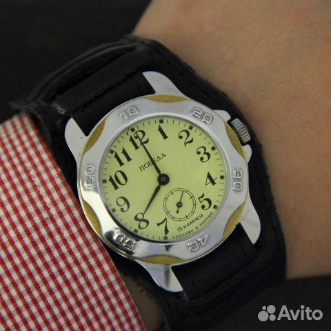 ec023340 Победа новые мужские наручные механические часы в купить в Москве на ...