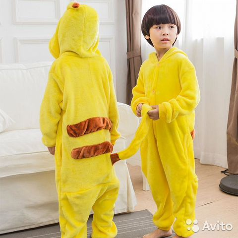 Детская пижама Кигуруми (kigurumi) Покемон Пикачу  cb8cb0e1a4527