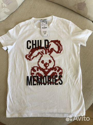 Zara новая белая футболка 5d7fa696684cf