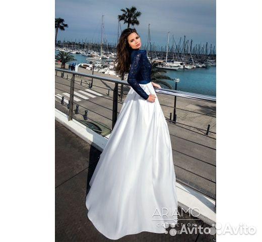 21dde5759ea Вечернее бело-синее платье купить в Москве на Avito — Объявления на ...