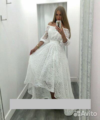 c20ece16051 Белое кружевное свадебное платье