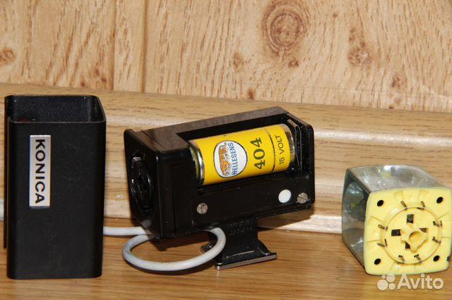 Винтажная вспышка Konica на магниевых кубиках 89052471031 купить 7