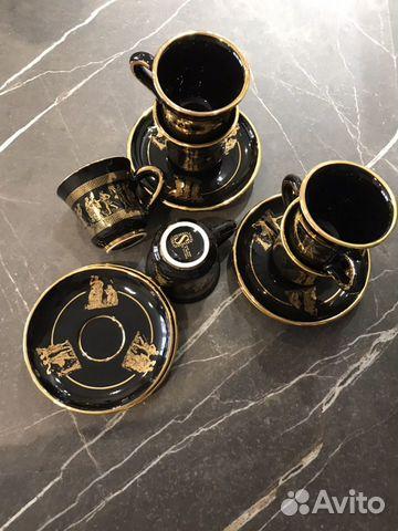 Коллекционный кофейный набор Греция-ручная роспись 89180478771 купить 2
