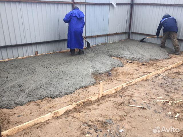 как правильно заливать бетонную площадку