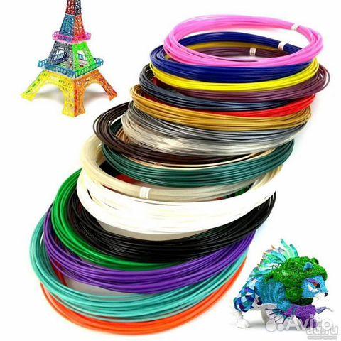 Пластик для 3д ручки много разных цветов