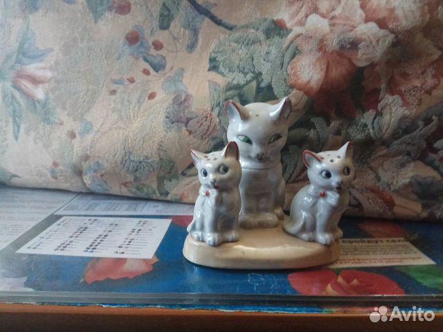 Фарфоровый набор для специй кошка с котятами  89105477639 купить 2