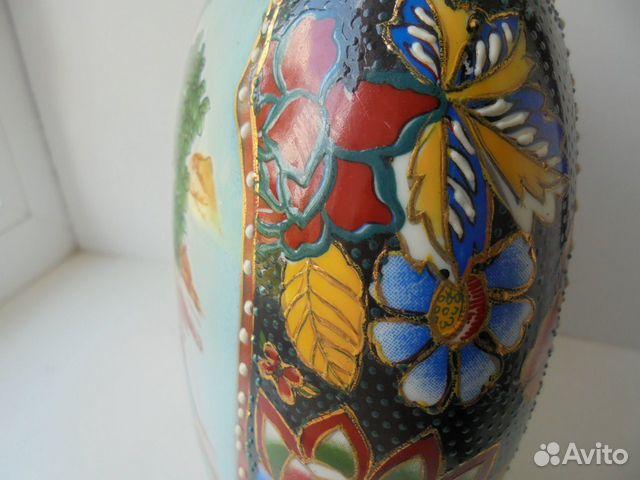 Ваза Китай костяной фарфор роспись позолота  89105009779 купить 9