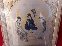"""Новая икона """"Святая Троица"""" позолоченная бб"""