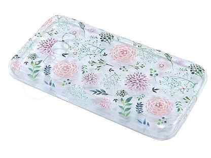 Чехол-накладка для Samsung J120 fashion TPU стразы Полевые цветы вид 2