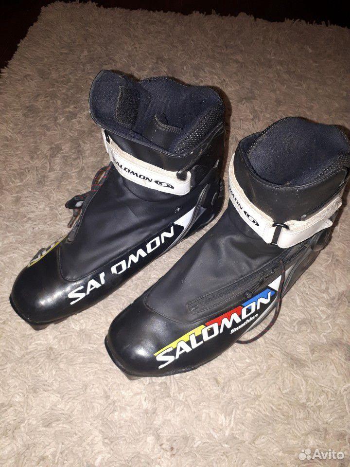 Ботинки Salomon skiatlon 44 EU, палки Madshus 155  89173235789 купить 1
