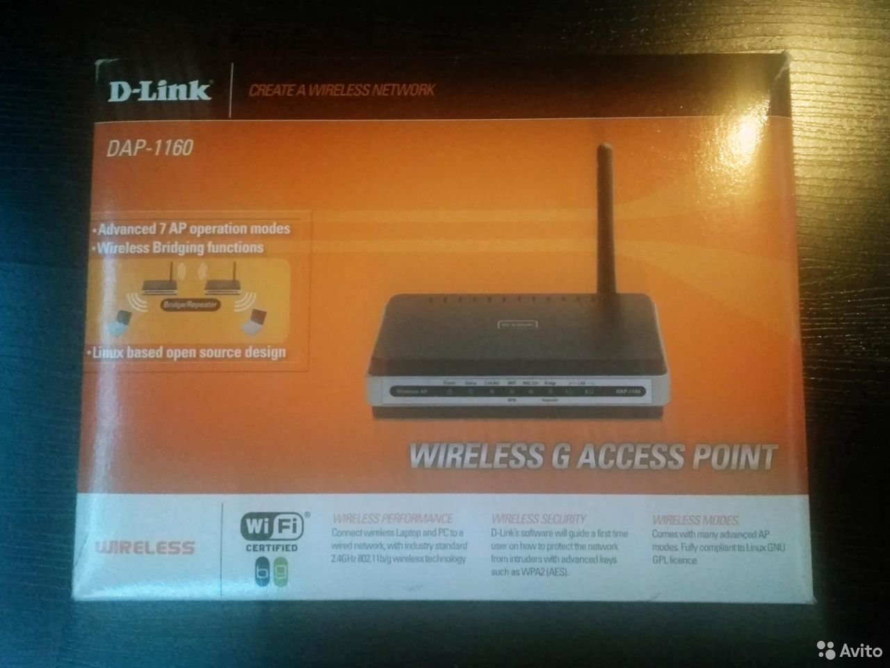 Wi-Fi роутер D-link DAP-1160