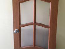 Дверь деревянная с ручкой, 200х70