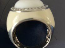 Кольцо (серебро эмаль агат фиониты)