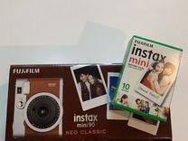 Instax Mini 90 + картриджи 10