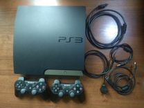 Прошитая PS3+fifa19+GTA5+2 джойстика