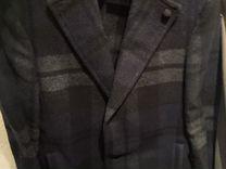 Sisley шерстяное пальто в клетку — Одежда, обувь, аксессуары в Москве