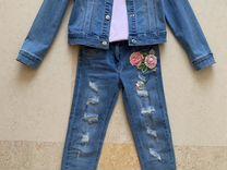 Джинсовый костюм для девочки Monnalisa