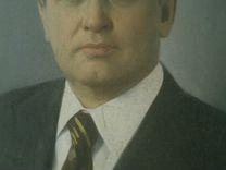 Портрет М. С. Горбачева на холсте