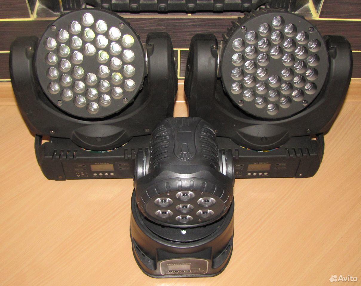 Проф светомузыка 3 вращающиеся головы LED микрофон  89128899109 купить 10